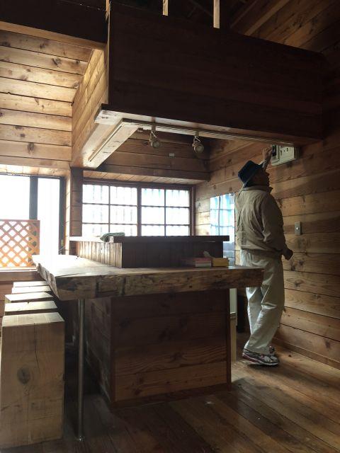 鳴沢別荘への出張