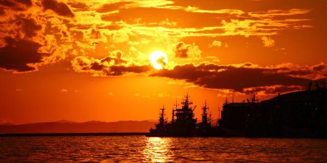 釧路出張と日本一の夕焼け